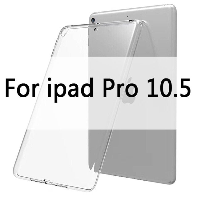 Case For iPad 10.2 2019 MiNi 2 3 4 5 TPU Transparent Silicone Shockproof Cover For New iPad 2017 2018 Pro 10.5 Air 1 2 Back Case