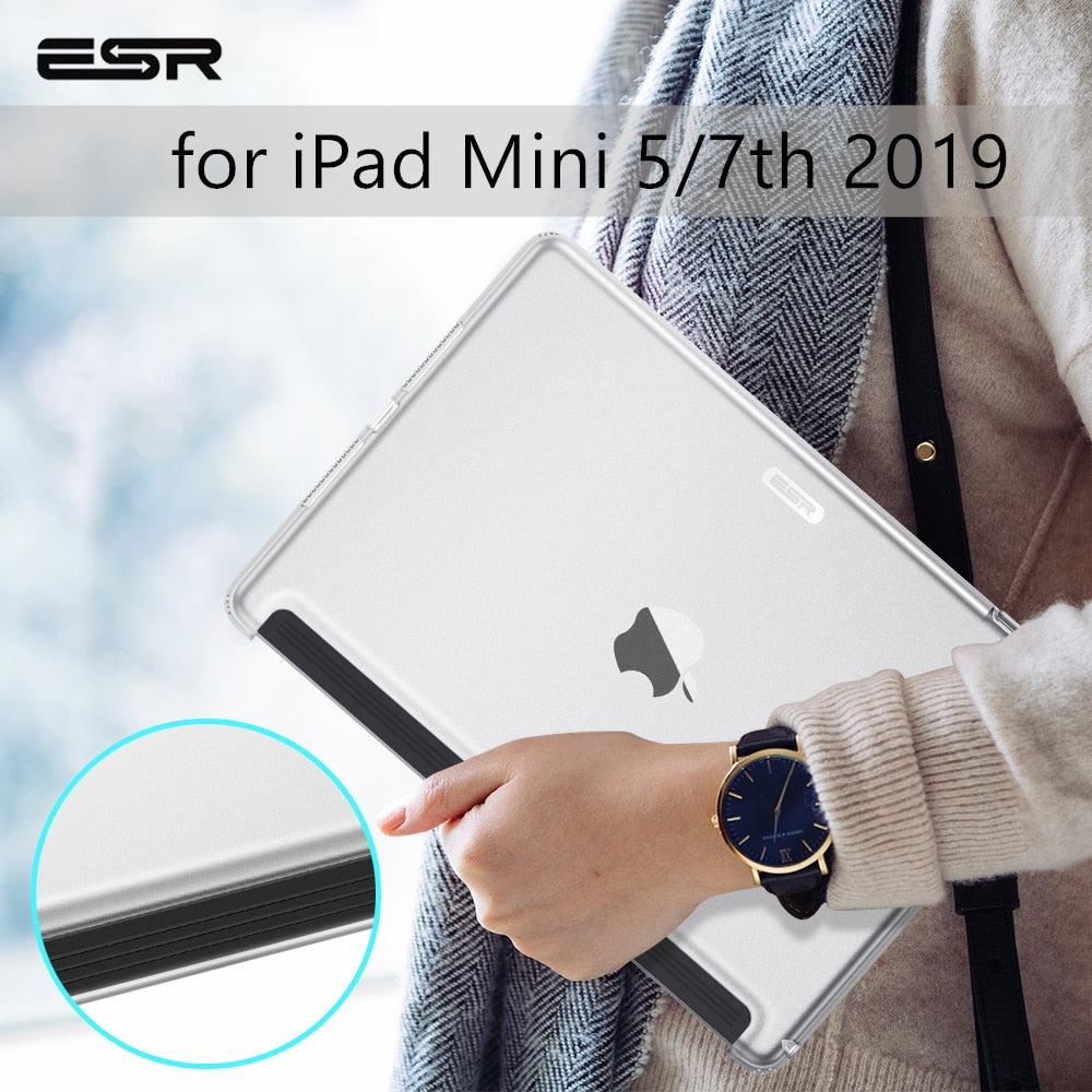 ESR Case for iPad Mini 5 7 Gen 7th 10.22019 Clear Hard Match Keyboard Smart Cover Slim Transparent Back Case for iPad mini5 7.9