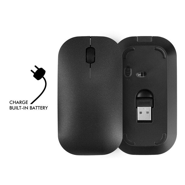 B.O.W Wireless PC Mouse Home & Office Mause Rechargeable Silent Mice USB Optical Mouse for Computer Apple Laptop Desktop PC
