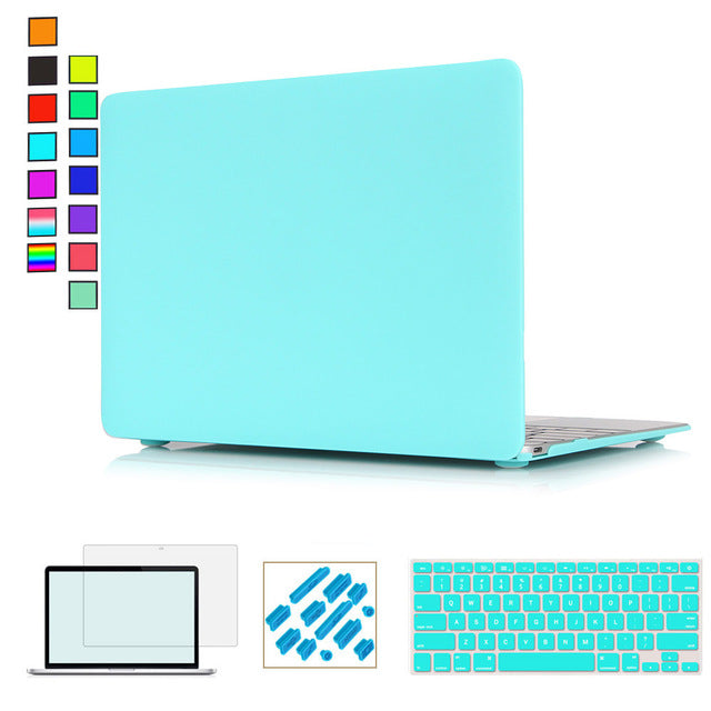 Case & Keyboard Cover For MacBook Air 13 & Apple MacBook Air Pro Retina 11 12 13 15