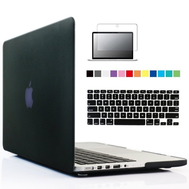 New Laptop Case For Apple MacBook Air Pro Retina 11 12 13 15 Mac Book 13.3 15.4 inch Case with Touch Bar Sleeve+ Keyboard Cover