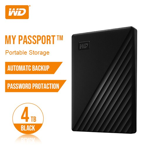 Western Digital My Passport™ 1TB 2TB 4TB 5TB External Hard Drive Disk WD Backup™ software and password protection