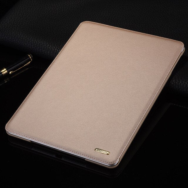 "Retro Business Genuine Leather Flip Case for iPad Air Air2 9.7"" 2017 Stand Smart Cover Tab Case for Apple iPad 9.7 inch 2018"