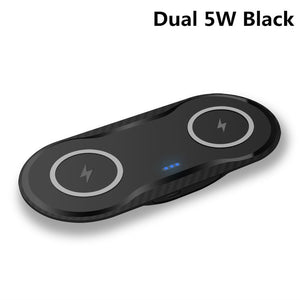 2 In 1 Double 10W Dual Seat Qi Wireless Charger for Samsung S10 S9 S8 Fast Charging Dock Pad for IPhone 11 Pro XS Max XR 8 Plus