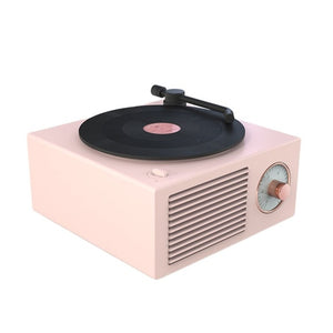 Vinyl Record Player Speaker Wireless Portable Mini Steel Speaker