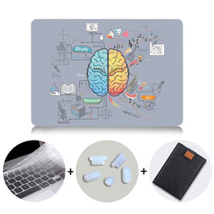 MTT Brain Design Case For Macbook Air Pro Retina 11 12 13 15 inch With Touch Bar Hard Cover 13.3'' Laptop Sleeve+Keyboard Cover