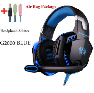 Gaming Big Headphones with Light and Mic