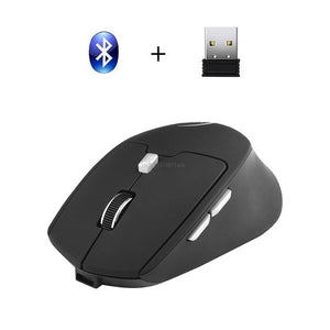 Wireless Bluetooth Gaming Mouse 2.4G Rechargeable Mice Dual Mode USB Receiver Portable Optical for Apple Mac PC Tablet Desktop