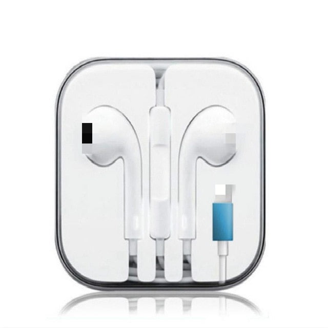 For Apple IPhone 7 In Ear Stereo Headphones with Microphone Wired Bluetooth Earphone for IPhone 8 7 Plus X XR XS Max 10 Headset