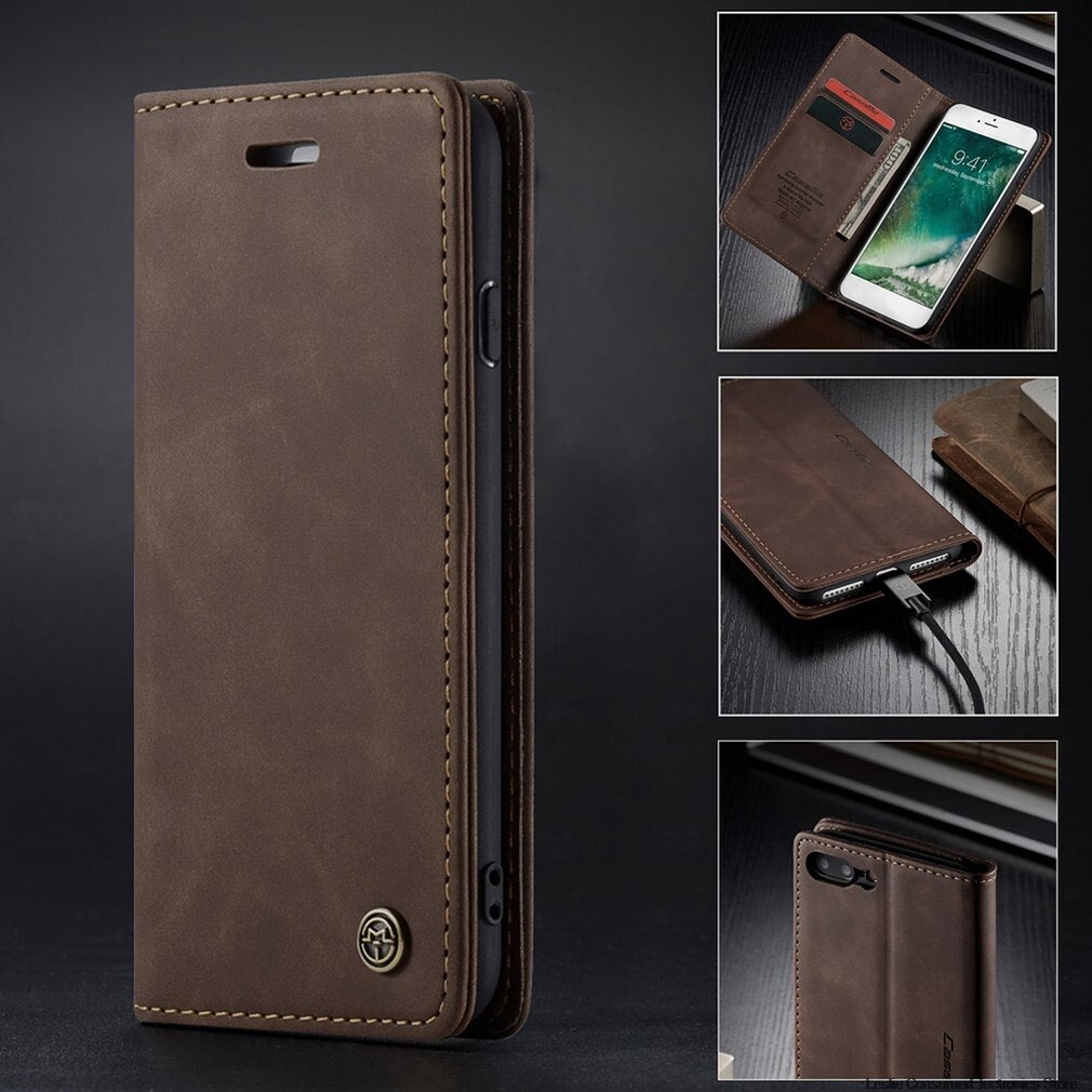 Ultra-Thin Business Flip Leather Wallet Mobile Phone Case Fashionable Mobile Phone Wallet Holster For Iphone 7 Plus/8 Plus