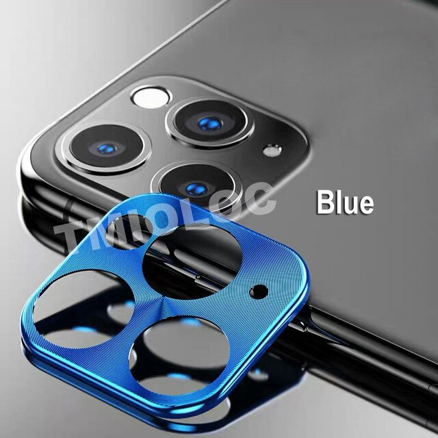 For iPhone 11 Pro Max Camera Case Metal Lens Protection Cover for iPhone 11 Ring Bumper Black Red Gold Back Phone Accessories