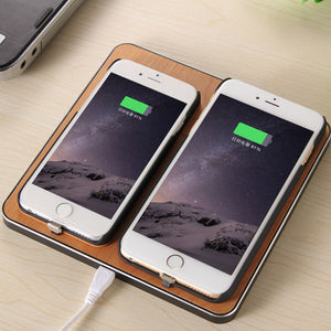 Qi Wireless Charger Charging Slim Wood Pad for xiaomi huawei iPhone 8 8 plus X Samsung S8 S7 Smart Phone Phone Accessories