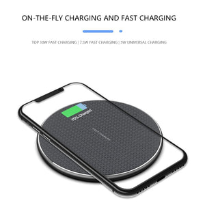 10W High Power Wireless Mobile Phone Charger Aluminum Mobile Phone Wireless Fast Charger Fashion For Iphone / Android