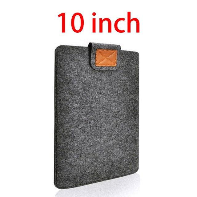 7.9-10'' Sleeve Bag Case Universal Wool Felt Fabric Tablet Cover for ipad 2018 air 1 mini huawei Samsung 10.1 MIpad 4 Pouch Capa