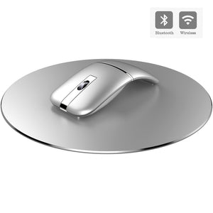 2.4G USB Wireless+Bluetooth Folding Mouse Rechargeable Ergonomic Gaming Mouse For Macbook Lenovo Asus Dell HP Computer Mouse