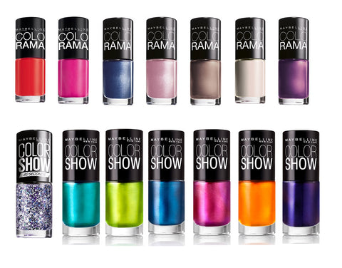 Maybelline Color Show Colorama  Assorted Set of 10 Nail Polishes