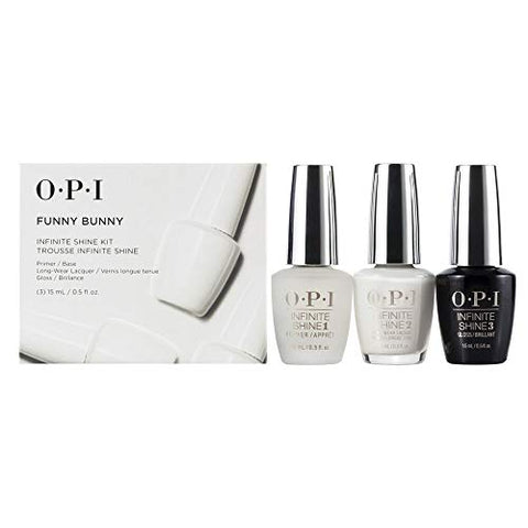 OPI Trio Gift Kit Funny Bunny NAIL LACQUER, BASE & TOP COAT set