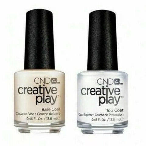 ND creative play clear Top coat & Base coat DUO