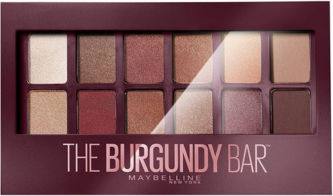 Maybelline New York - Eyeshadow Palette - The Burgundy Bar - 12 Colours