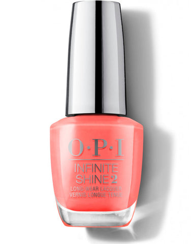 OPI Infinite Shine Nail Varnish Polish Orange You a Rock Star