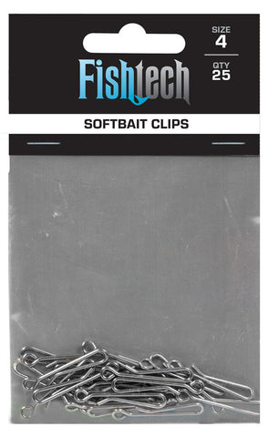 Fishtech Softbait Clips (25 per pack)