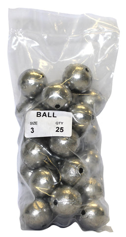 Ball Sinker Bulk Pack 3oz (25 per pack)