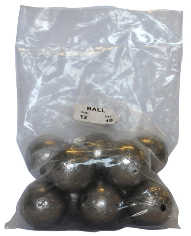 Ball Sinker Bulk Pack 12oz (10 per pack)