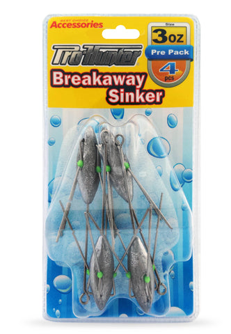 Pro Hunter Breakaway Sinkers 3oz (4 per pack)