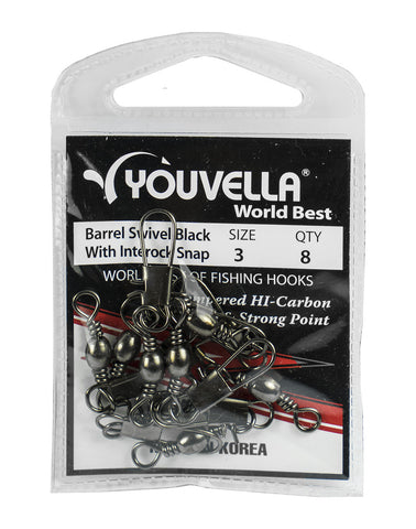 Youvella Swivel Snap 3 (8 per pack) Nett Item