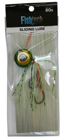 Fishtech 60g Slippery Slider Lure - Green
