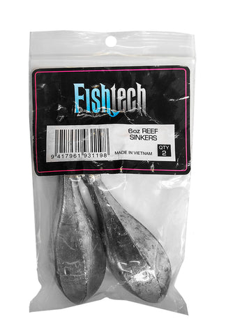 Fishtech Reef Sinkers 6oz (2 per pack)