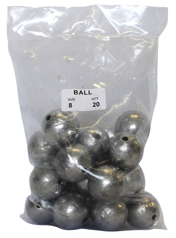 Ball Sinker Bulk Pack 8oz (20 per pack)