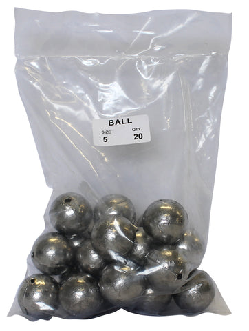 Ball Sinker Bulk Pack 5oz (20 per pack)