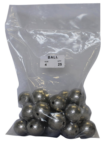 Ball Sinker Bulk Pack 4oz (25 per pack)
