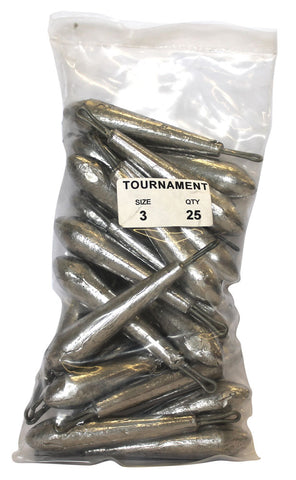 Tournament Sinker Bulk Pack 3oz (25 per pack)