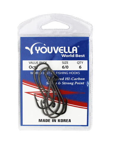 Youvella Octy Hooks 6/0 (6 per pack)