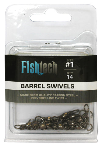 Fishtech #1 Barrel Swivels (14 per pack)