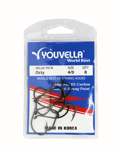Youvella Octy Hooks 4/0 (8 per pack)