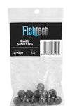 Fishtech Ball Sinkers 1/4oz (12 per pack)