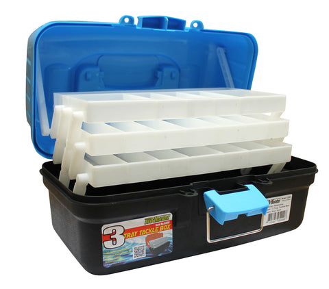 Pro Hunter Three Tray Tackle Box - Blue