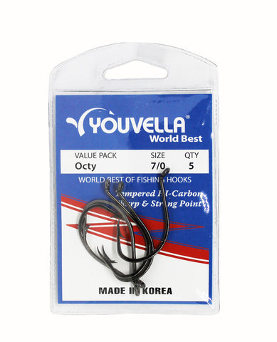 Youvella Octy Hooks 7/0 (5 per pack)