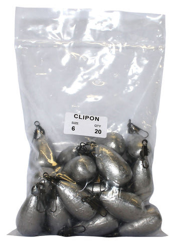 Clipon Sinker Bulk Pack 6oz (20 per pack)