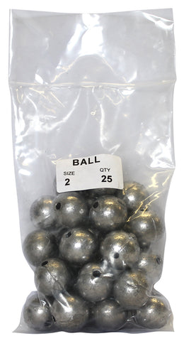 Ball Sinker Bulk Pack 2oz (25 per pack)