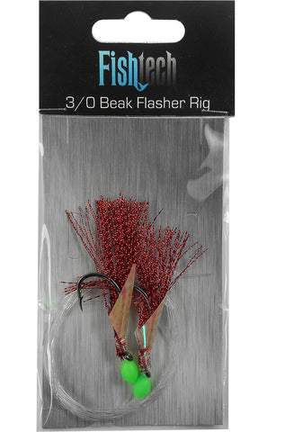 Fishtech 3/0 Beak Economy Flasher Rig