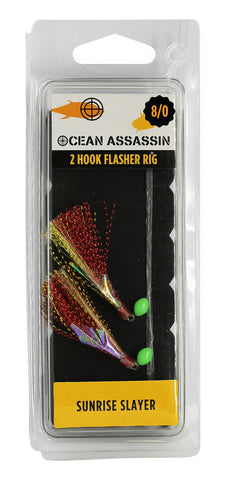 Ocean Assassin Sunrise Slayer Flasher Rig - 8/0