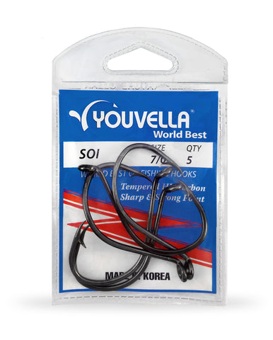 Youvella Soi 7/0 Hooks (5 per pack)