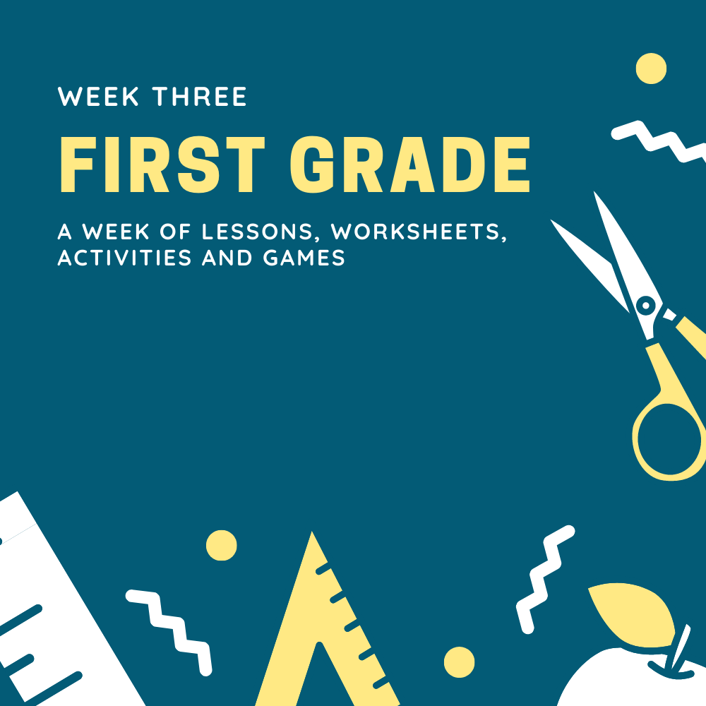 First Grade Lesson Plan- Week 3