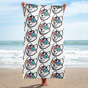 Husky Pup Beach Towel