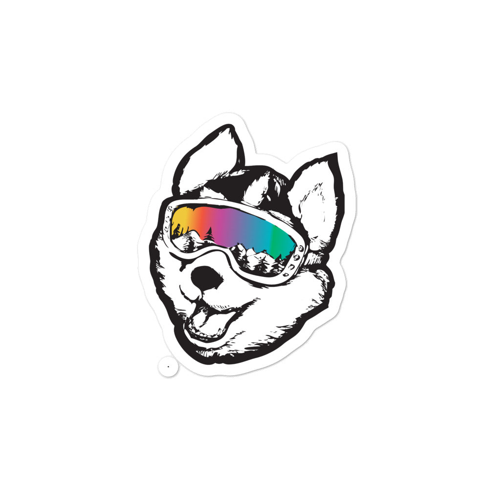 Husky Pup Kiss Cut Stickers