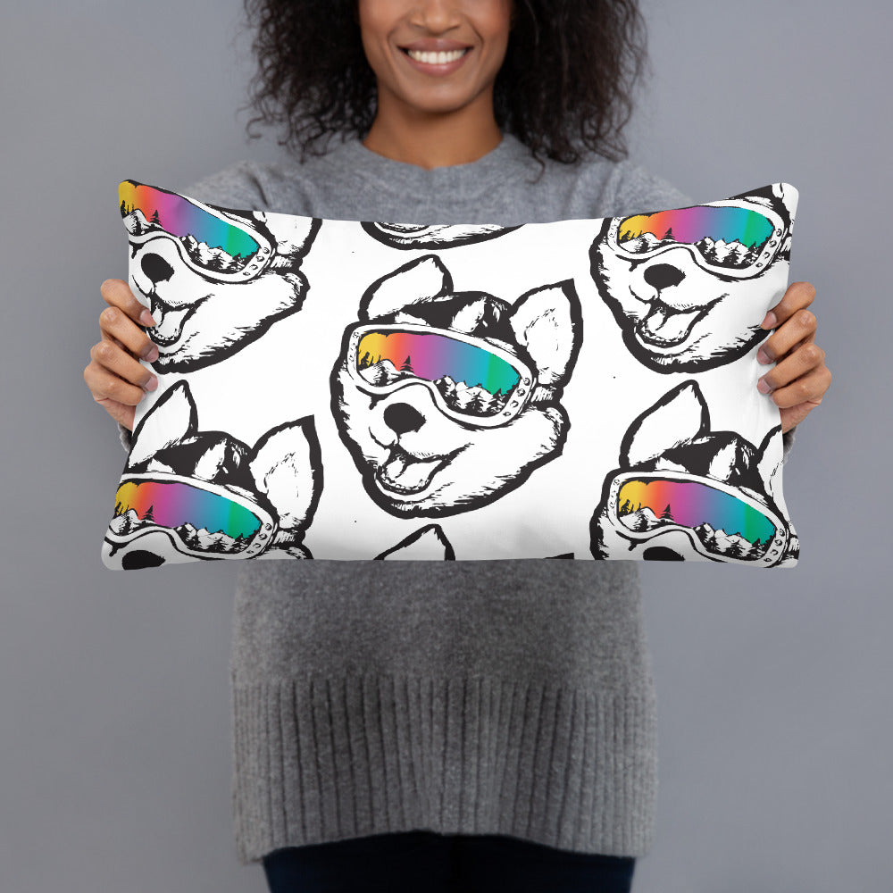 Husky Pups Throw Pillow